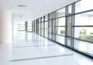 corridor of the office building